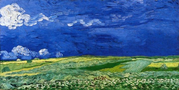 Пшеничное поле под облачным небом :: Ван Гог, описание картины - Van Gogh фото