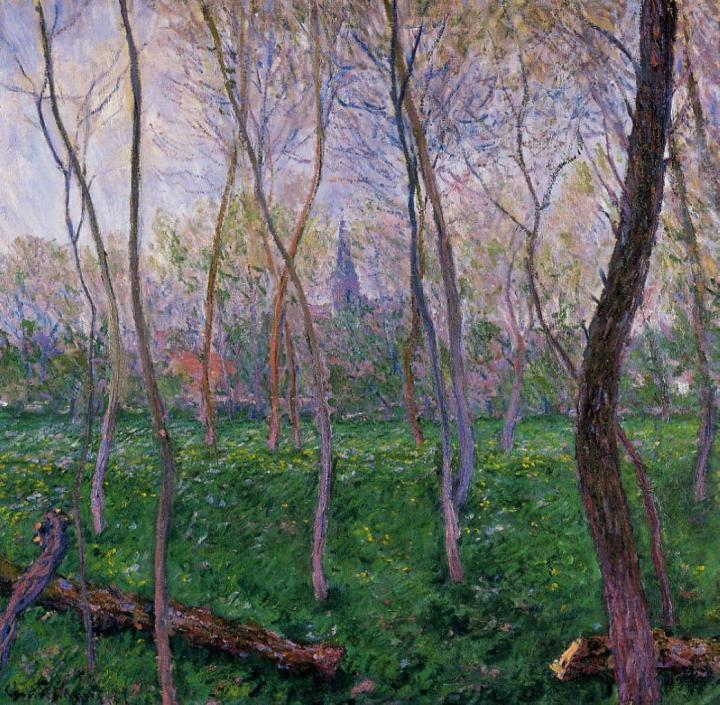 пейзаж Беннекур :: Клод Моне, описание картины - Claude Monet фото