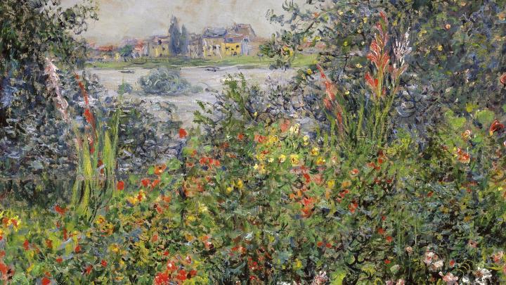 пейзаж Цветы :: Клод Моне, описание картины - Claude Monet фото