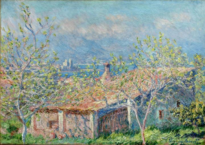 пейзаж Дом садовника в Антибе:: Клод Моне, описание картины - Claude Monet фото