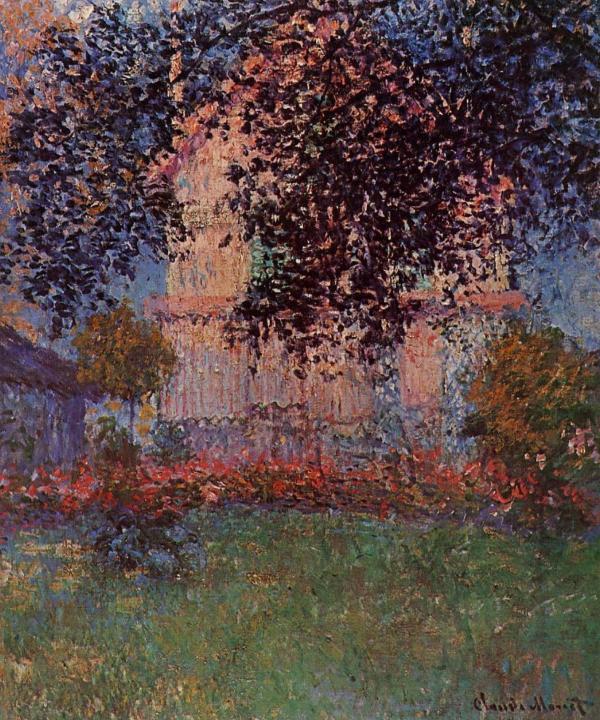 пейзаж Дом Моне в Аржантее :: Клод Моне, описание картины - Claude Monet фото