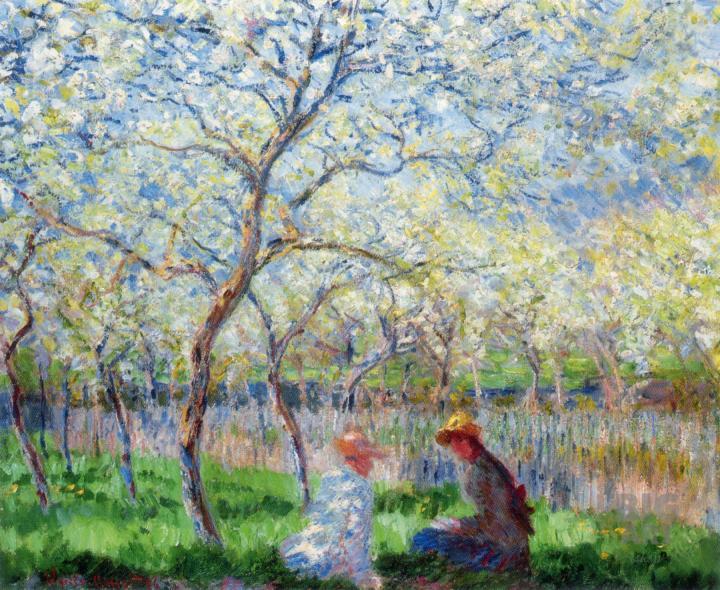 пейзаж Весна :: Клод Моне, описание картины - Claude Monet фото
