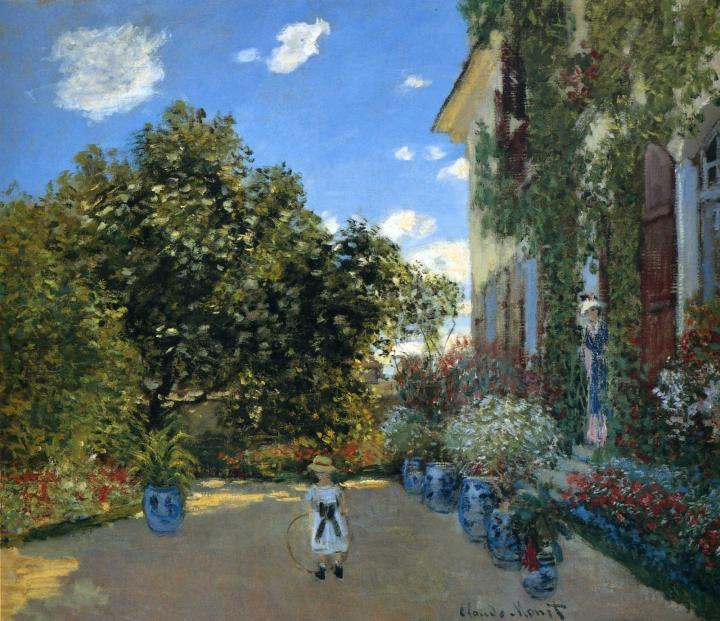 пейзаж Дом художника в Аржантёе:: Клод Моне, описание картины - Claude Monet фото