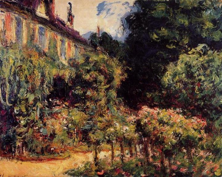 пейзаж Дом художника в Живерни:: Клод Моне, описание картины - Claude Monet фото