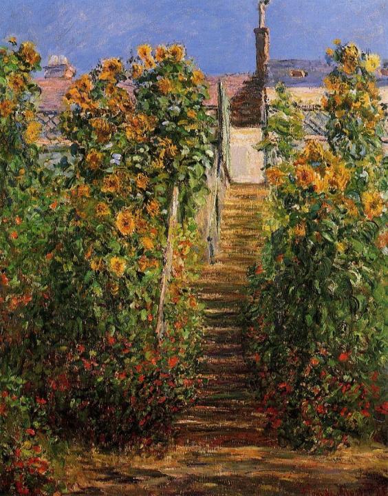 пейзаж Ступеньки, Витёй :: Клод Моне, описание картины - Claude Monet фото