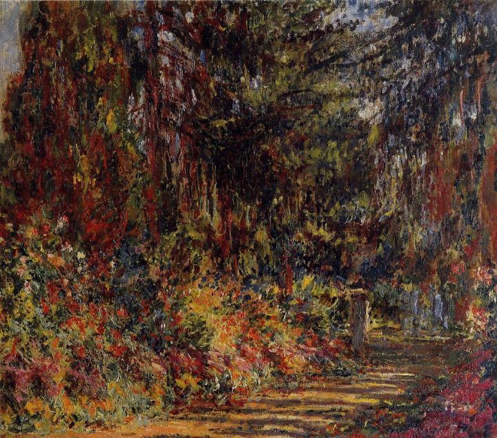 пейзаж Тропа в Живерни :: Клод Моне, описание картины - Claude Monet фото