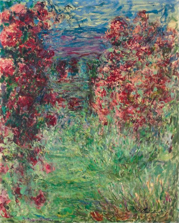 пейзаж Дом среди роз :: Клод Моне, описание картины - Claude Monet фото