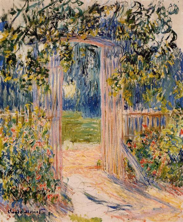 пейзаж Садовые ворота :: Клод Моне, описание картины - Claude Monet фото