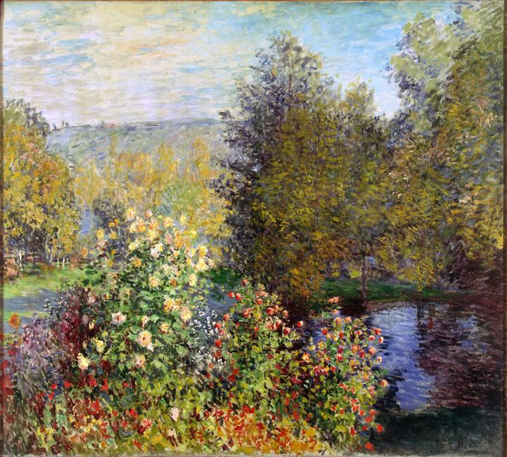 пейзаж Сад в Монжироне :: Клод Моне, описание картины - Claude Monet фото