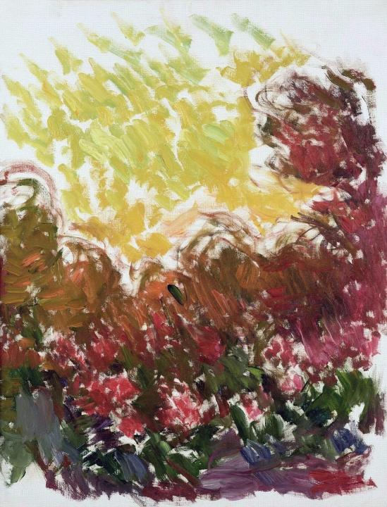пейзаж Сад в Живерни :: Клод Моне, описание картины - Claude Monet фото