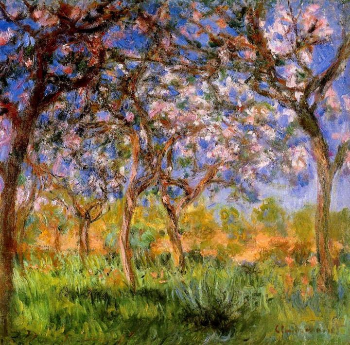 пейзаж Живерни весной :: Клод Моне, описание картины - Claude Monet фото
