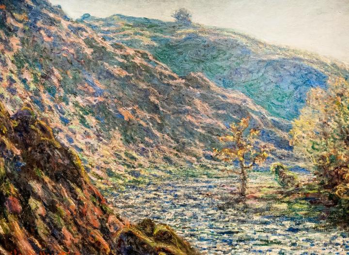 пейзаж Старое дерево на перекрёстке :: Клод Моне, описание картины - Claude Monet фото