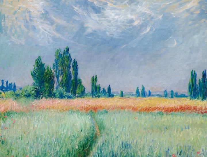 пейзаж Пшеничное поле :: Клод Моне, описание картины - Claude Monet фото