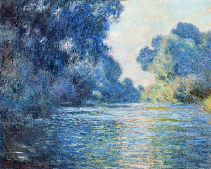 речной пейзаж Сена :: Клод Моне, описание картины - Claude Monet фото