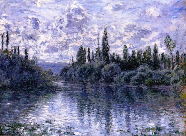 речной пейзаж Сена рядом с Витёем :: Клод Моне, описание картины - Claude Monet фото