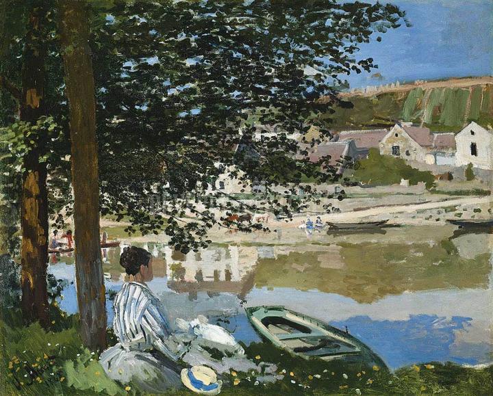речной пейзаж Река в Беннекурте :: Клод Моне, описание картины - Claude Monet фото