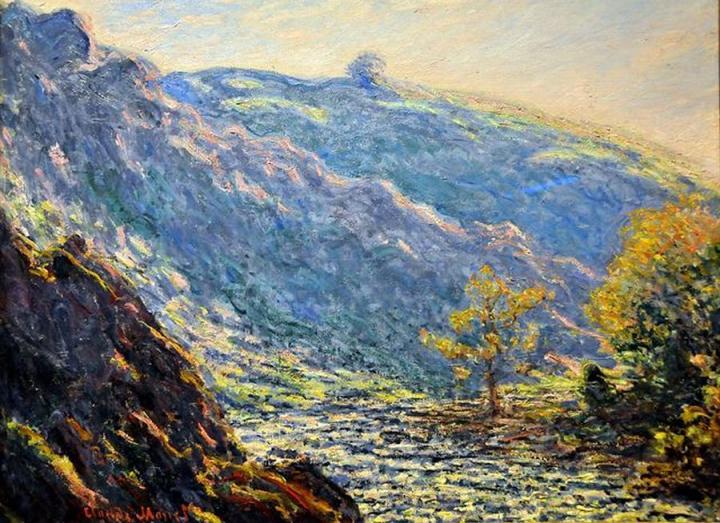 речной пейзаж Река в солнечном свете :: Клод Моне, описание картины - Claude Monet фото
