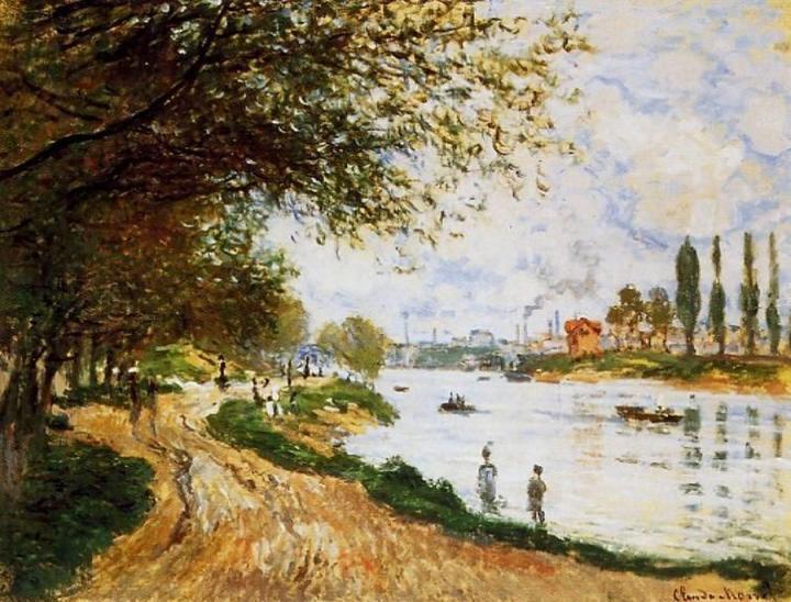 речной пейзаж Остров Ля Гран Жатте :: Клод Моне, описание картины - Claude Monet фото