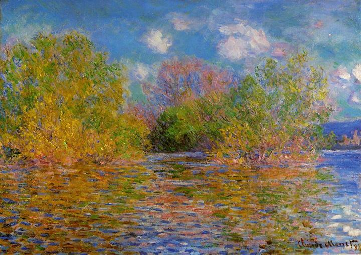 речной пейзаж Сена, Живерни :: Клод Моне, описание картины - Claude Monet фото