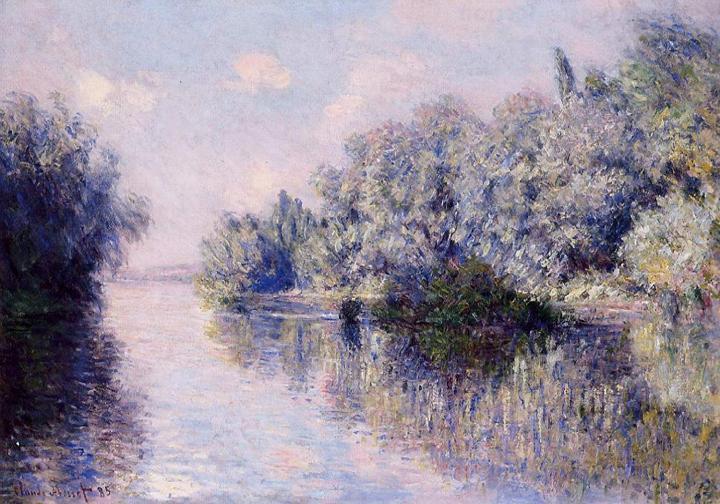 """речной пейзаж """"Сена рядом с Живерни"""" :: Клод Моне, описание картины - Claude Monet фото"""