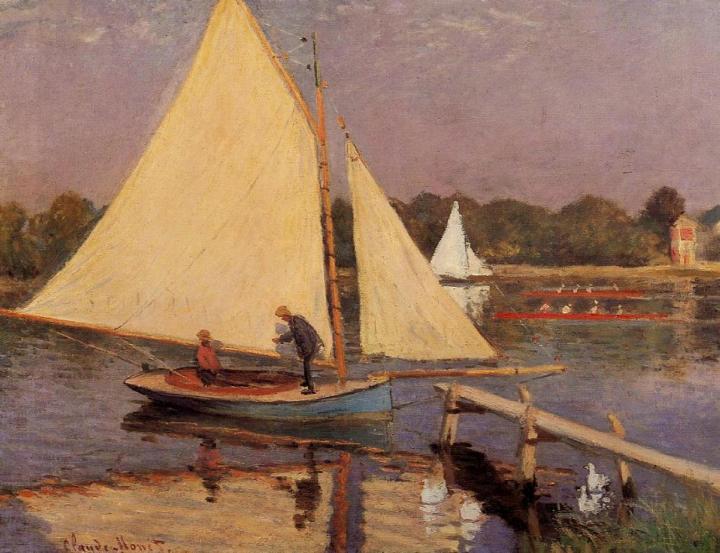 """пейзаж """"Лодки близ Аржантёя"""" :: Клод Моне, описание картины - Claude Monet фото"""