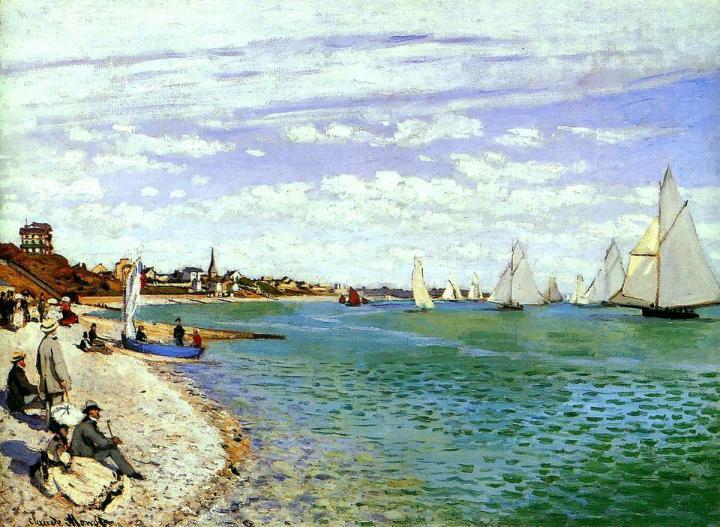 Регата в Сент-Адресс:: Клод Моне, пейзажи - Claude Monet фото