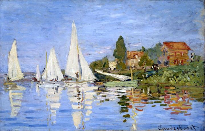 пейзаж Регата в Аржантёе :: Клод Моне, описание картины - Claude Monet фото