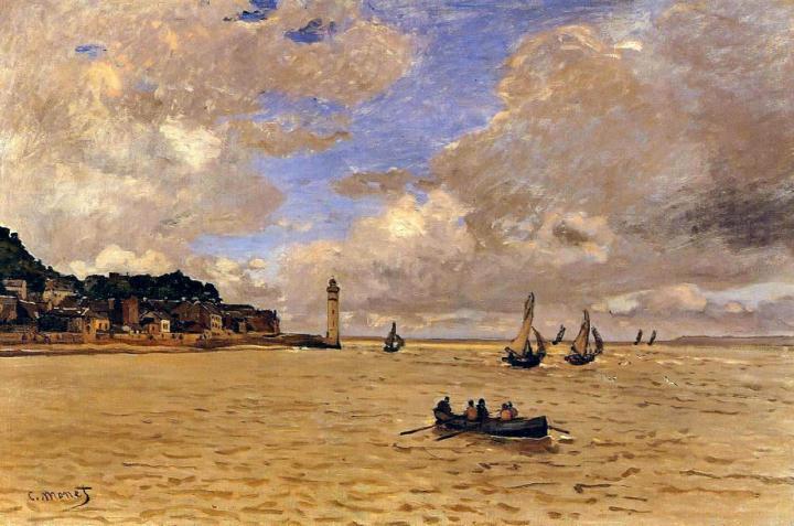 пейзаж Маяк у богадельни :: Клод Моне, описание картины - Claude Monet фото