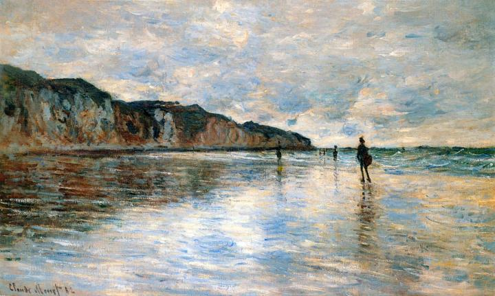 пейзаж Пурвилль во время отлива :: Клод Моне, описание картины - Claude Monet фото
