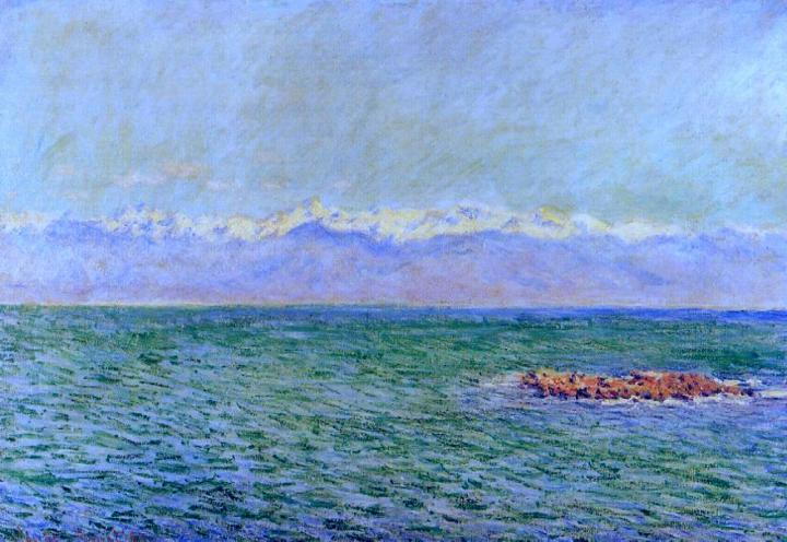 """морской пейзаж """"Море и Альпы"""" :: Клод Моне, описание картины - Море в живописи ( морские пейзажи, seascapes ) фото"""