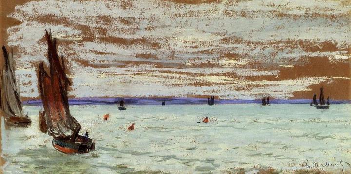 """морской пейзаж """"Открытое море"""" :: Клод Моне, описание картины - Море в живописи ( морские пейзажи, seascapes ) фото"""