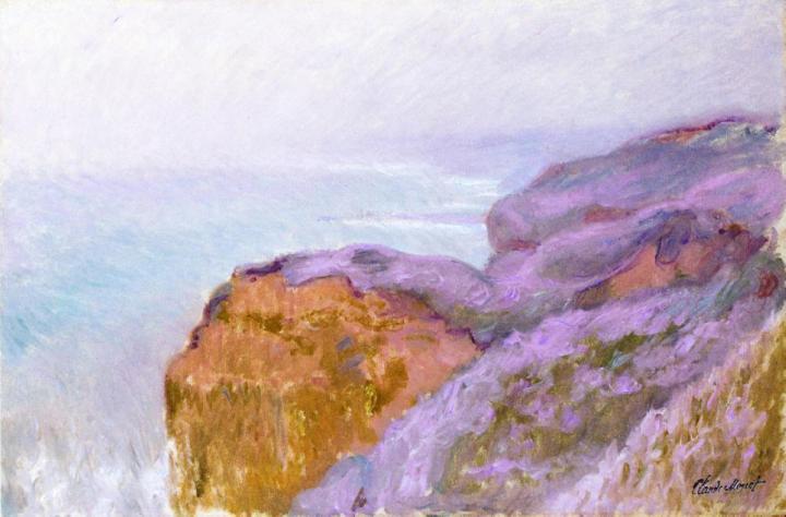 скалы и море Долина Сен-Николя рядом с Дьеппом :: Клод Моне, описание картины - Claude Monet фото