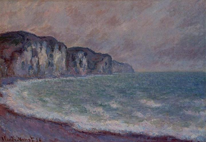 скалы и море Скала в Пурвилле:: Клод Моне, описание картины - Claude Monet фото