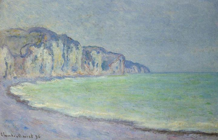 скалы и море Скала в Пурвилле :: Клод Моне, описание картины - Claude Monet фото
