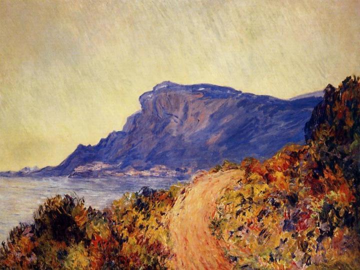 пейзаж Прибрежная дорога рядом с Ментоном :: Клод Моне, описание картины - Claude Monet фото