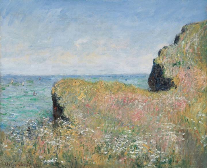 пейзаж Край скалы, Пурвилль :: Клод Моне, описание картины - Claude Monet фото