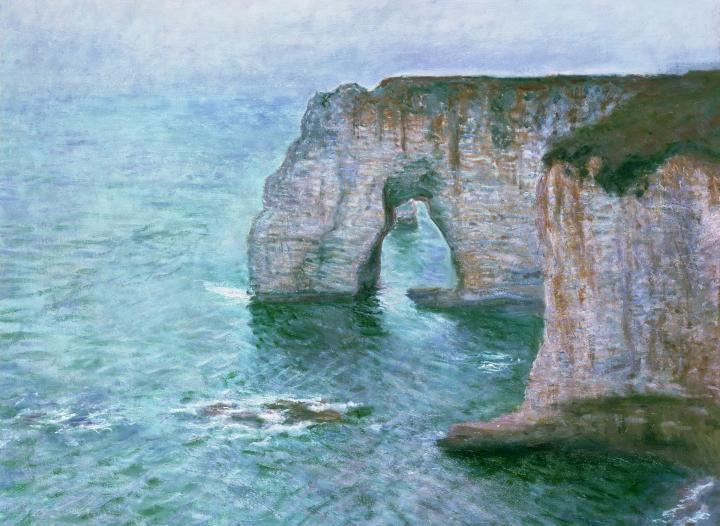 """пейзаж """"Маннепорт, вид с востока"""" :: Клод Моне, описание картины - Claude Monet фото"""