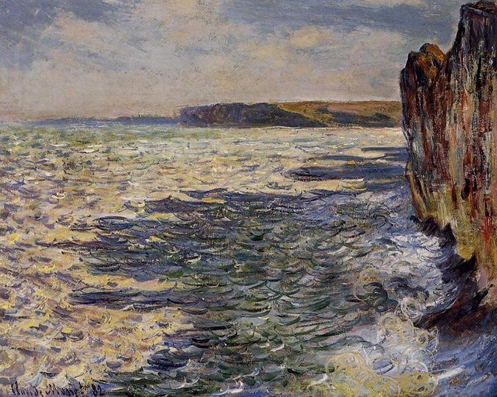 """пейзаж """"Волны и камни, Пурвилль"""" :: Клод Моне, описание картины - Claude Monet фото"""