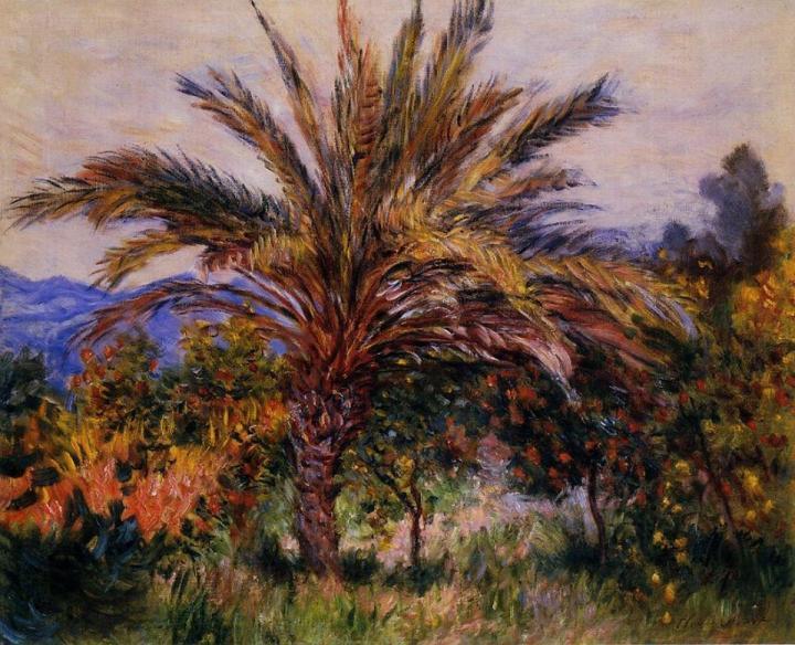 """южный пейзаж """"Пальмы"""" :: Клод Моне, описание картины - Claude Monet фото"""