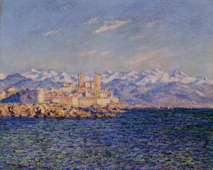 пейзаж Антиб, полдень :: Клод Моне, описание картины - Claude Monet фото