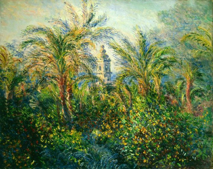 """пейзаж """"Сад в Бордигере, утро"""" :: Клод Моне, описание картины - Claude Monet фото"""