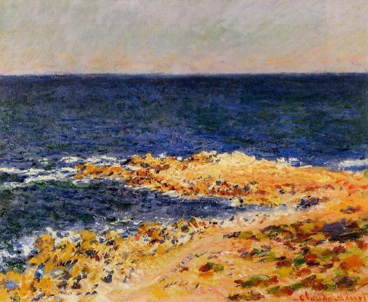 Голубая безна в Антибе :: Клод Моне, описание картины - Claude Monet фото