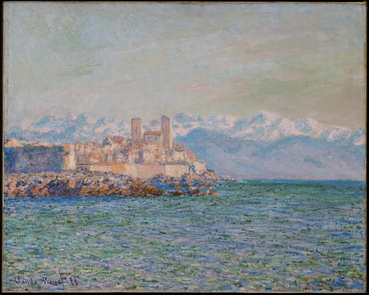 южный пейзаж Старый форт в Антибе :: Клод Моне, описание картины - Claude Monet фото