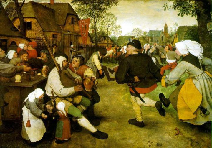 картина Крестьянский танец :: Питер Брейгель Старший (Мужицкий) - Pieter Bruegel de Oude фото