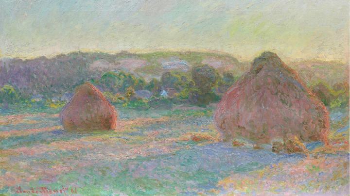 Стога сена вечером, конец лета :: Клод Моне - Claude Monet фото