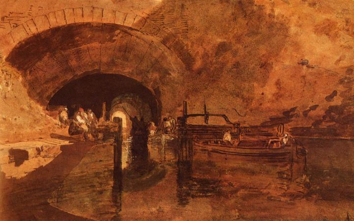 картина Канал в туннеле рядом с Лидсом:: Уильям Тёрнер, описание - William Turner фото
