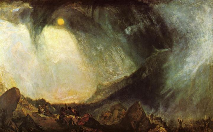 картина Снежная буря. Переход Ганнибала через Альпы :: Уильям Тёрнер - William Turner фото