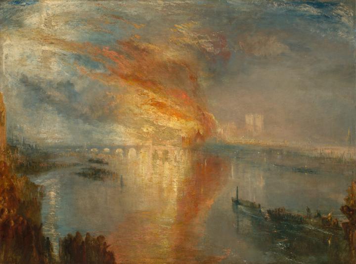 картина Горящие палаты Лордов и Общин (пожар) :: Уильям Тёрнер - William Turner фото