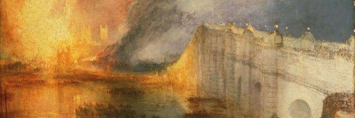 картина Горящие палаты Лордов и Общин :: Уильям Тёрнер 16 октября 1834 года - William Turner фото