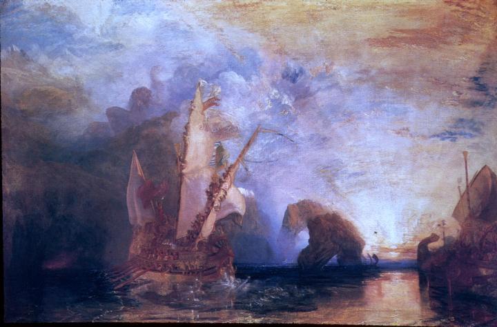 Одиссей высмевает Полифема :: Уильям Тёрнер - William Turner фото